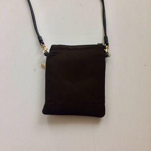 Nine West Chocolate Small Crossbody Bag Leather